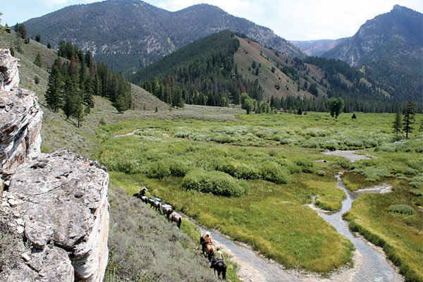 A pack trip in Wyoming's Bridger-Teton National Forest.