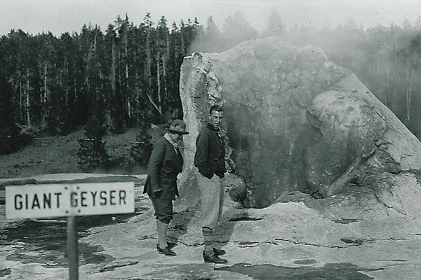 Early tourists capture their memories of our nation's first national park.