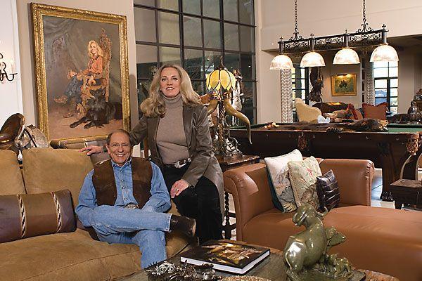 Mort and Donna Fleischer's artistic paradise in Rio Verde, Arizona.