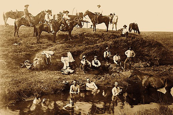 Frontier cattle drovers were definitely hygienically-challenged.