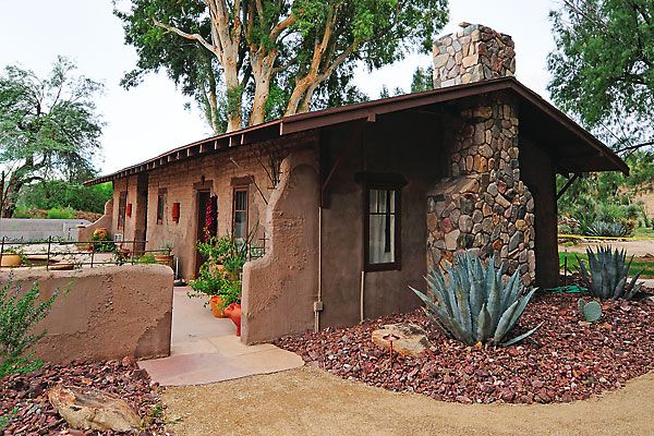 Ranch manager Dee Steed's adobe-style home at the historic Kay El Bar Guest Ranch.