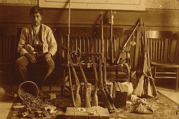 Guns of the Mexican revolucionarios.