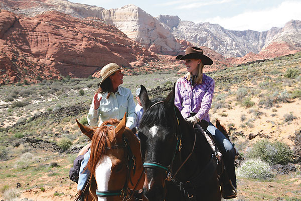 Riding through Utah's Dixie at Snow Canyon State Park.