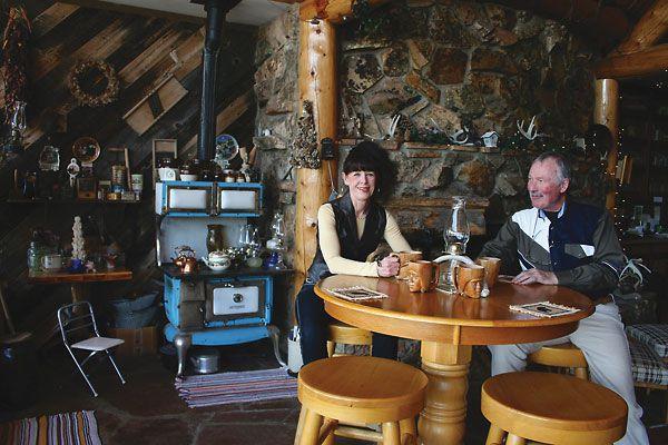 Artist R.G. and Senior Olympian Lynn Finney's home along Wyoming's Encampment River.