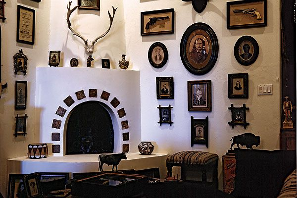 Robert McCubbin's handsome home in Santa Fe, New Mexico, is every Old West enthusiast's dream.