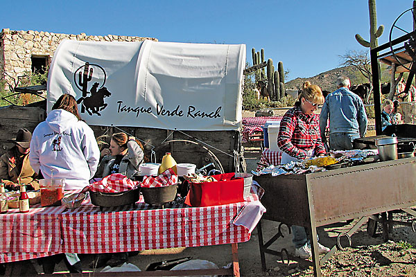 A winter horseback ride makes a chuckwagon breakfast even yummier.