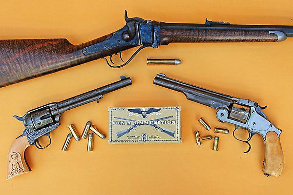 Blackpowder cartridges by Ten-X Ammunition should keep shootists blazing away.