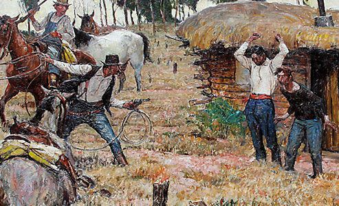 wall-drug-south-dakota_apprehending-the-horse-thieves_harvey-dunn