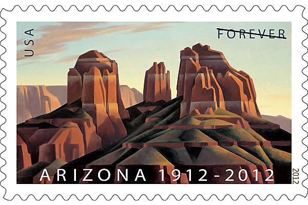 ed-mell_arizona_artist_cathedral-rock-sedona_centennial-postatge-stamp