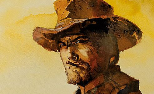 bob_boze_bell_painting_clint_eastwood_cool_actor_icon