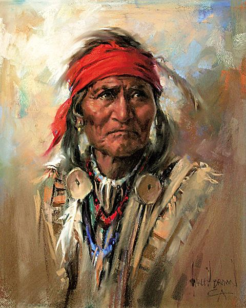 Oil Paintings Dacota Indianerin