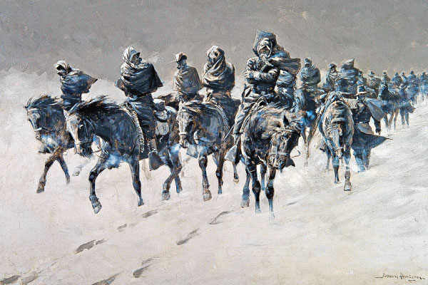 CTW_Frederic-Remington_oil-on-canvas_Thirty-Below-and-a-Blizzard-Raging