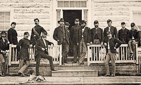 Officers-stationed-at-Fort-Ellis-in-Montana-Territory