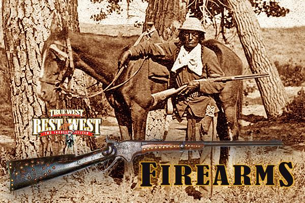 Arikara-scout-Bloody-Knife_brass-tacked-1866-Winchester-Yellowboy-rifle