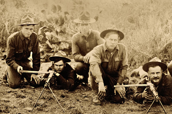 American-GI-man-Model-1909-Benet-Mercie-Machine-Rifles-used-to-discourage-further-border-raids-by-Villa-banditos.