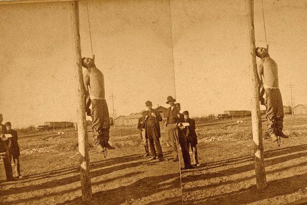 Navajo Frank hanging in Las Vegas-New Mexico
