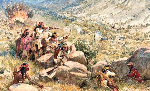 1862 Battle of Apache Pass by Joe Beeler