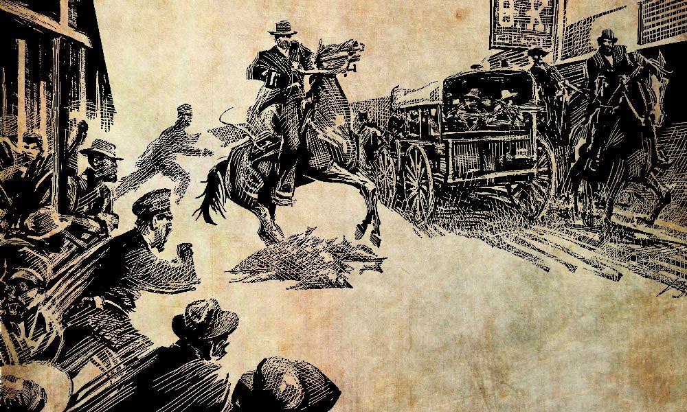 Wyatt Earp vs Tombstone Mob