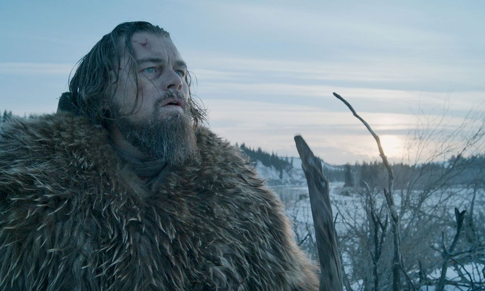 Leonaro DiCaprio as Mountan Man Hugh Glass