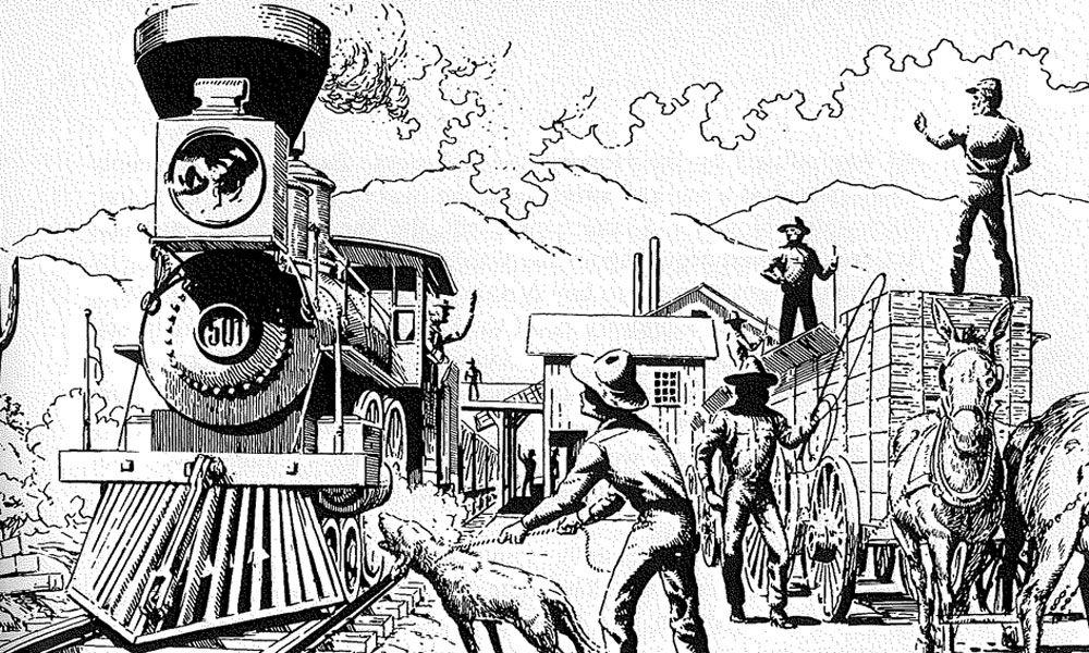 Old Pueblo by railroad