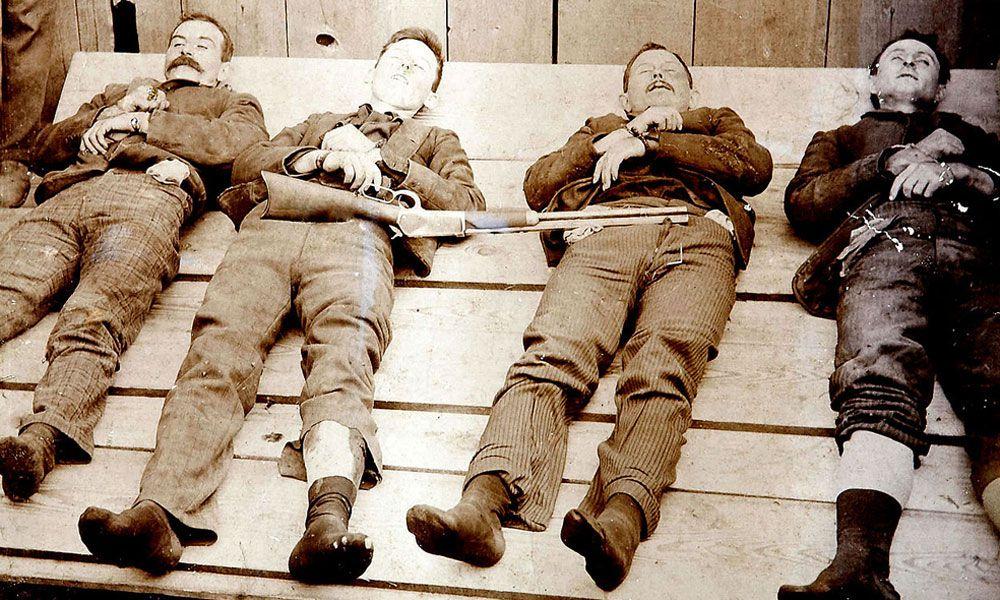 Post-mortem photo of the Dalton Gang