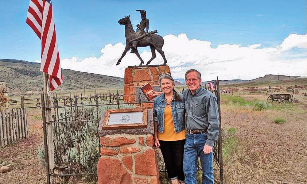 Tri Robinson with wife Nanxy at the reburial site in Cody, WY