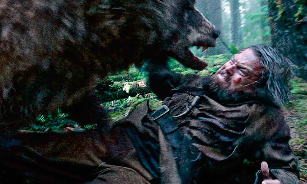 Action shot from THE REVENANT