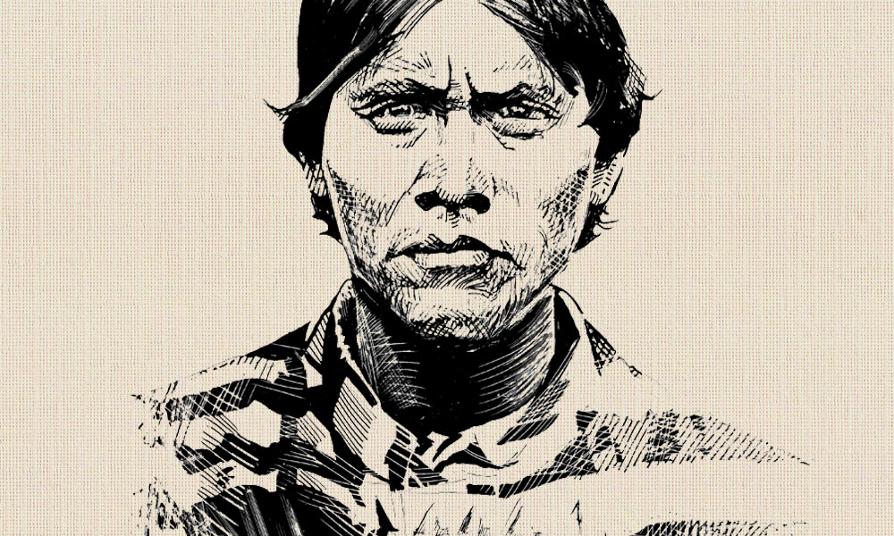 Depiction of the Apache Kid