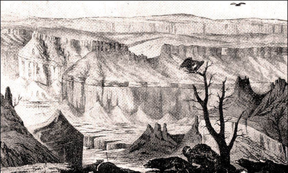Mollhausen's Sketch of the Grand Canyon