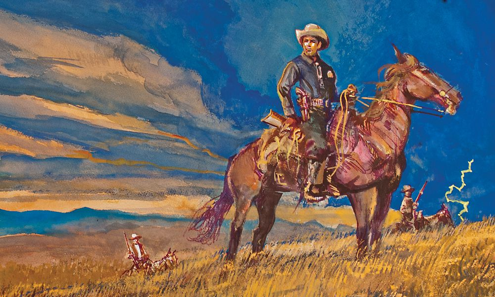 Illustration of Frank Hamer by Bob Boze Bell