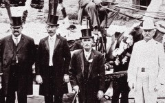 Photograph of Dr. Wiliam Rowan with other members of the Ouray Elks Lodge