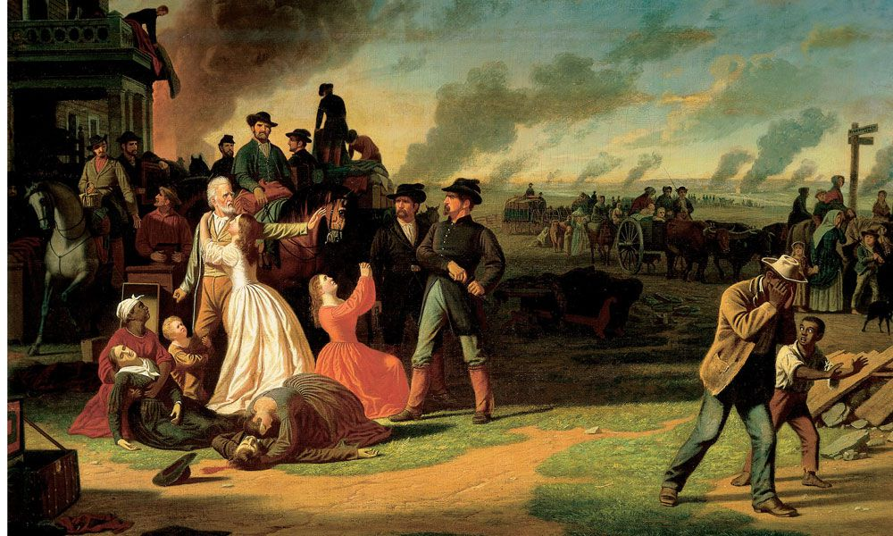 """Painting by George Caleb Bingham of """"General Order No. 11"""""""