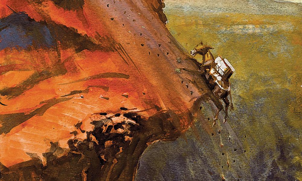 cliff hanger mule illustration bob boze bell