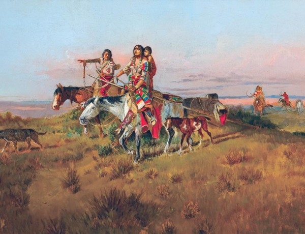 charles russell painting true west