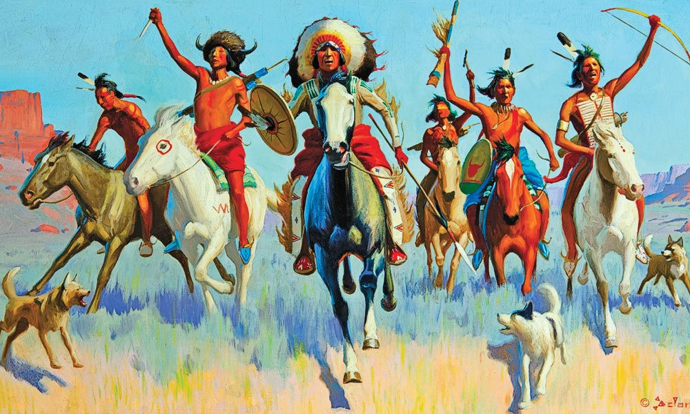 Gerard Curtis Delano painting true west
