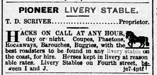 livery stables true west sacramento daily union