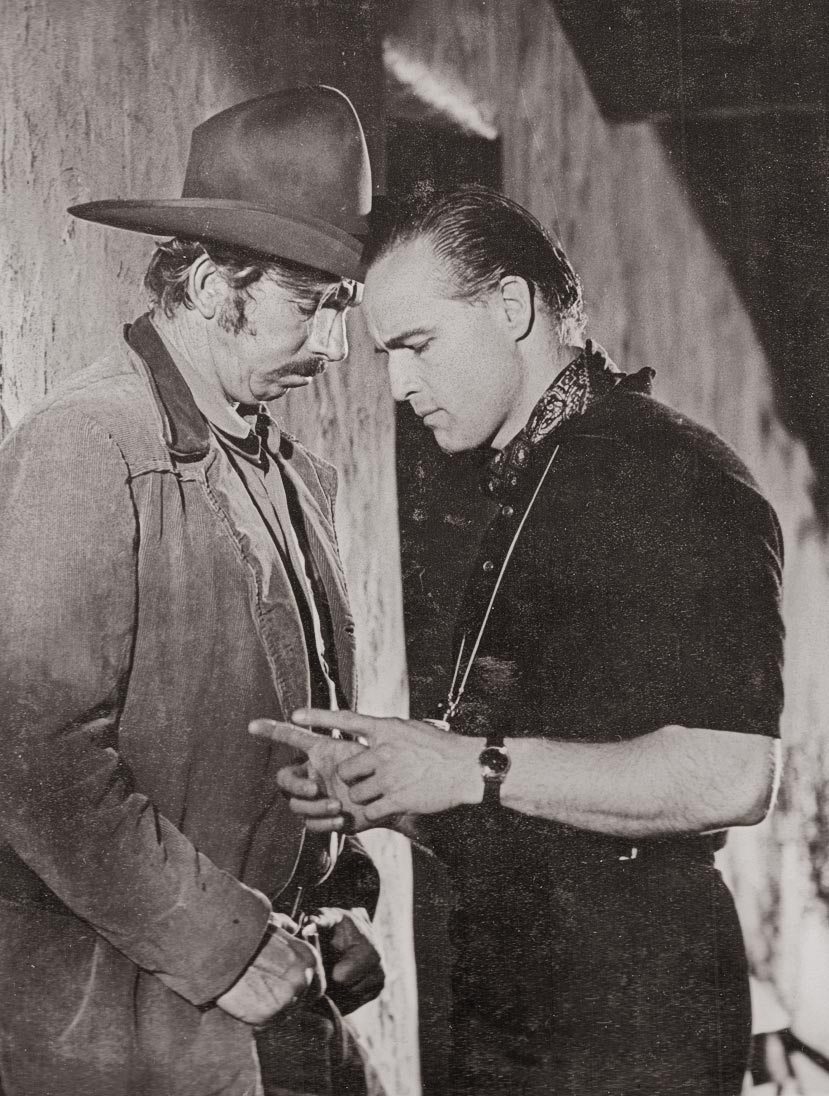 slim pickens and marlon brando in one eyed jacks true west