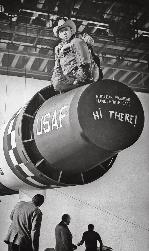 slim pickens on the set of dr strangelove true west
