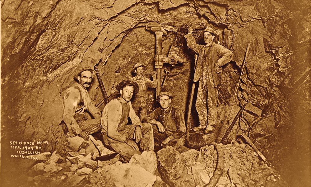 underground miners wallace idaho true west
