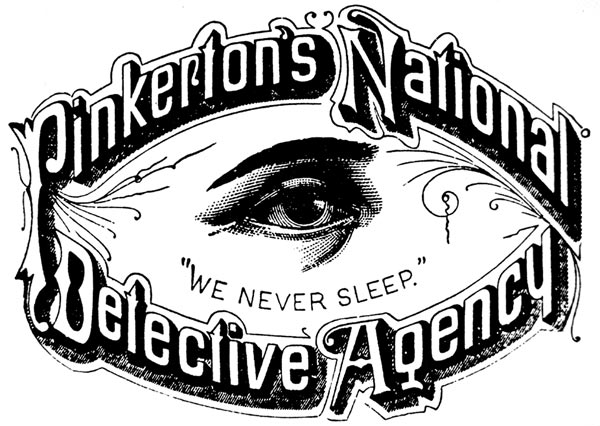pinkerton private eye logo true west