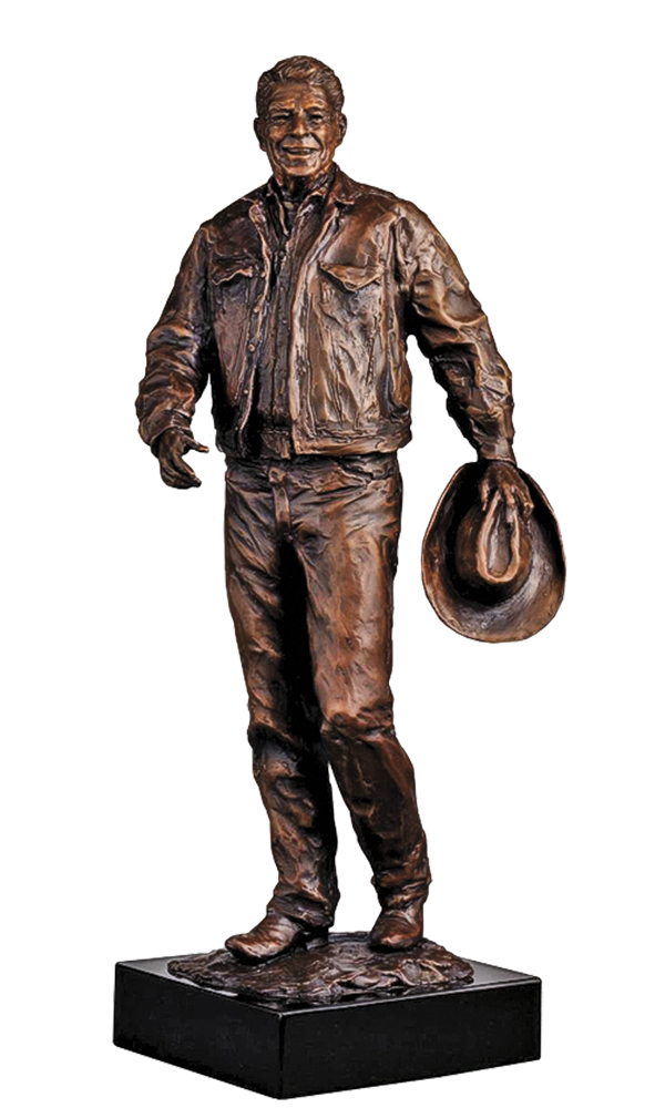 ronald reagan sculpture glenna goodacre true west