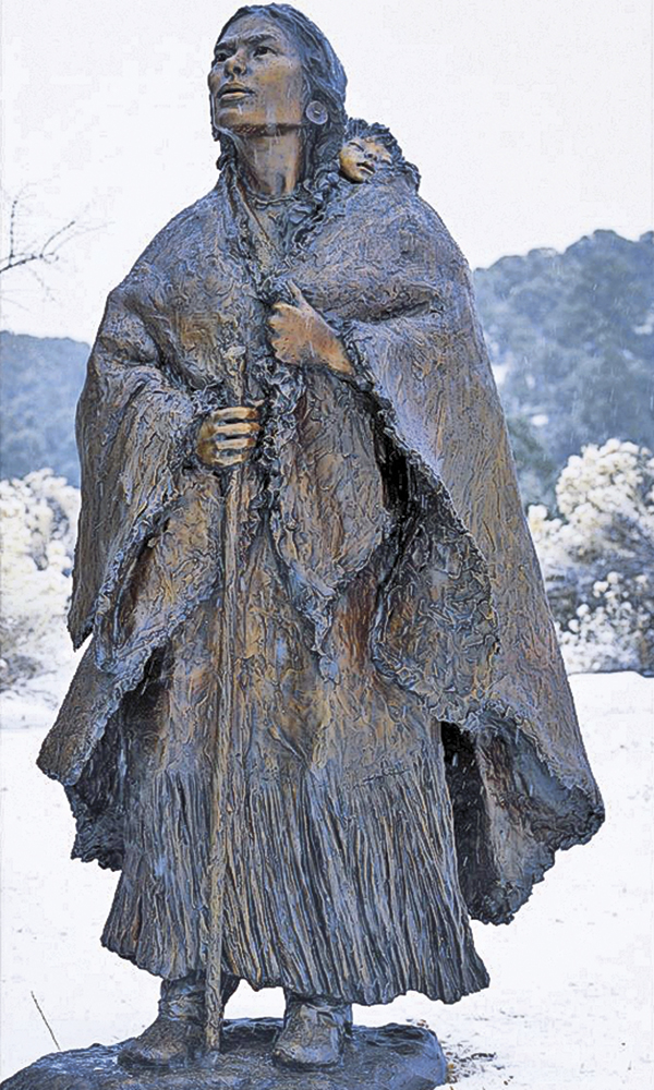 Sacagawea Jean Baptiste Glenna Goodacre true west