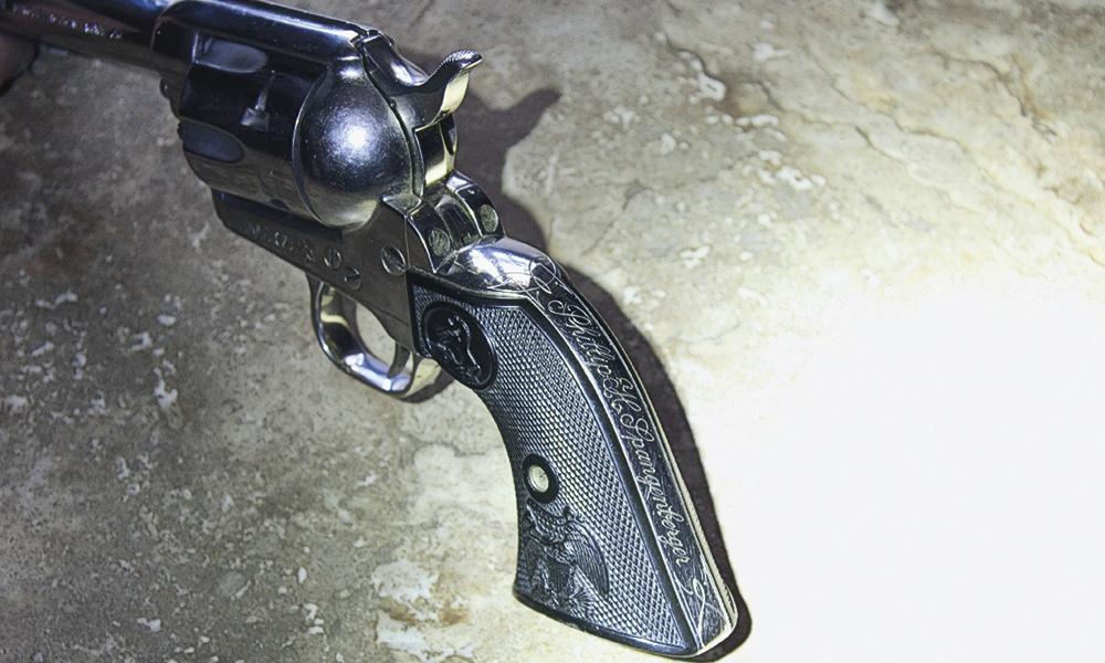 cowboy cowboy mounted shooting gun true west