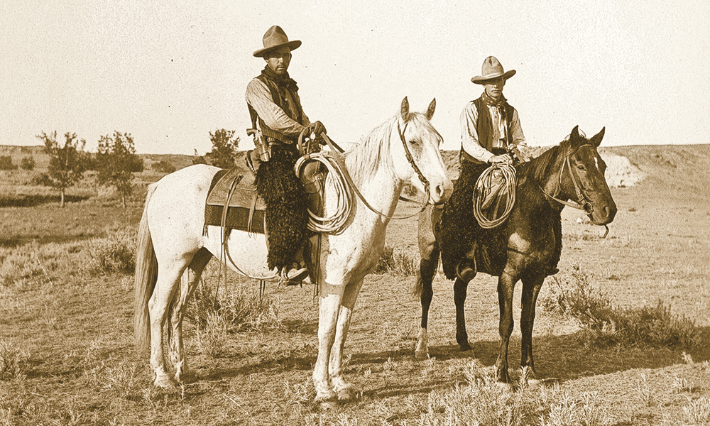 Mounted Horses Two Bow Gun Boys True West