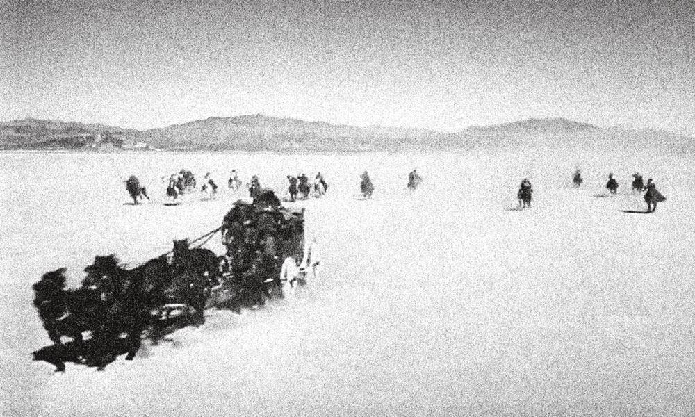yakima canutt stagecoach opening scene true west