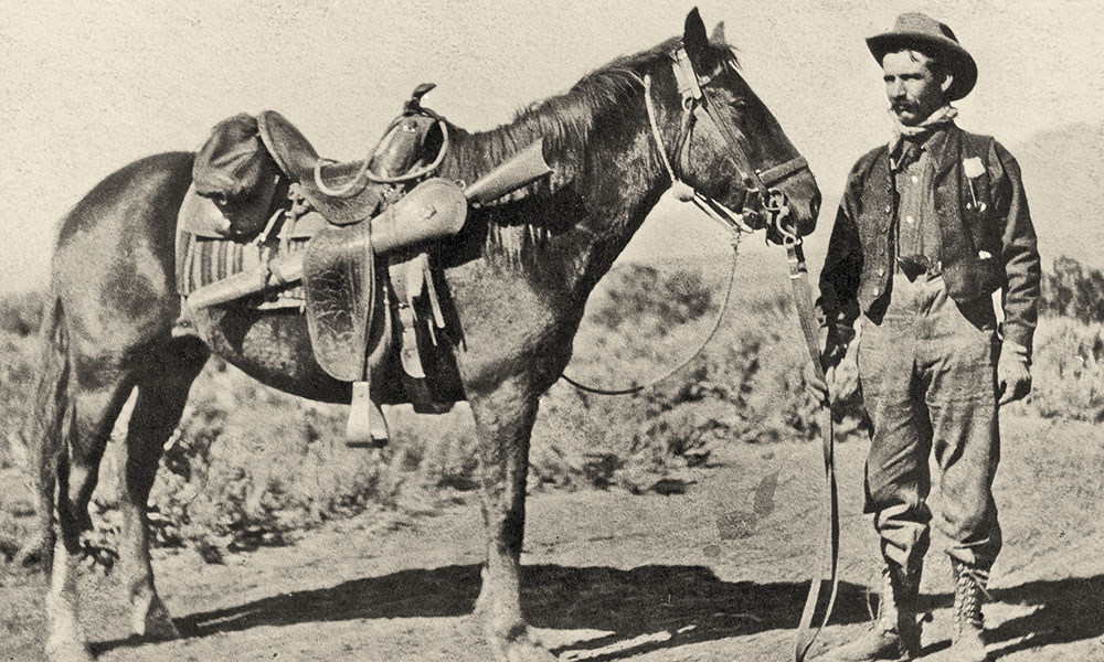 forest ranger horses cowboy true west