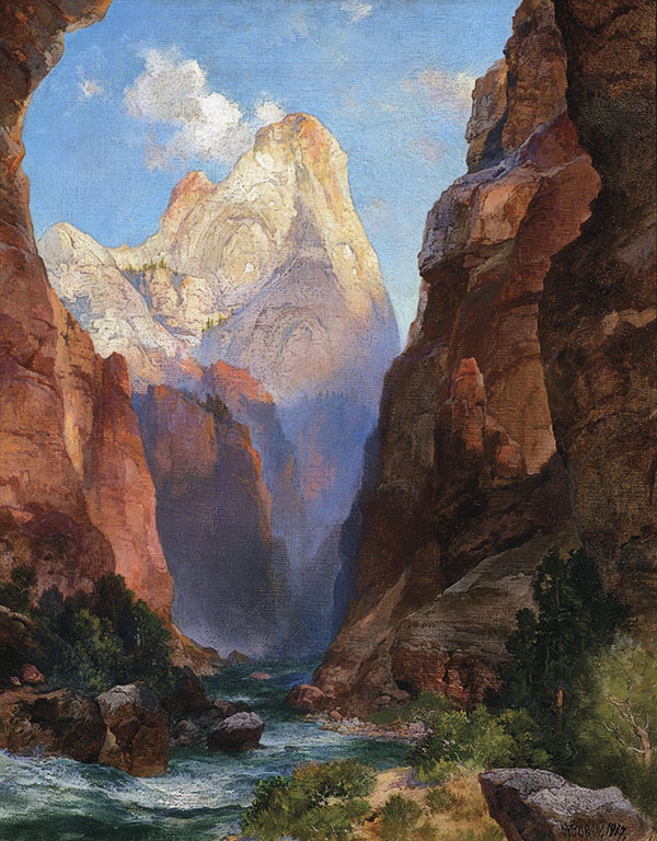 Thomas Moran Western Art William R Leigh True West