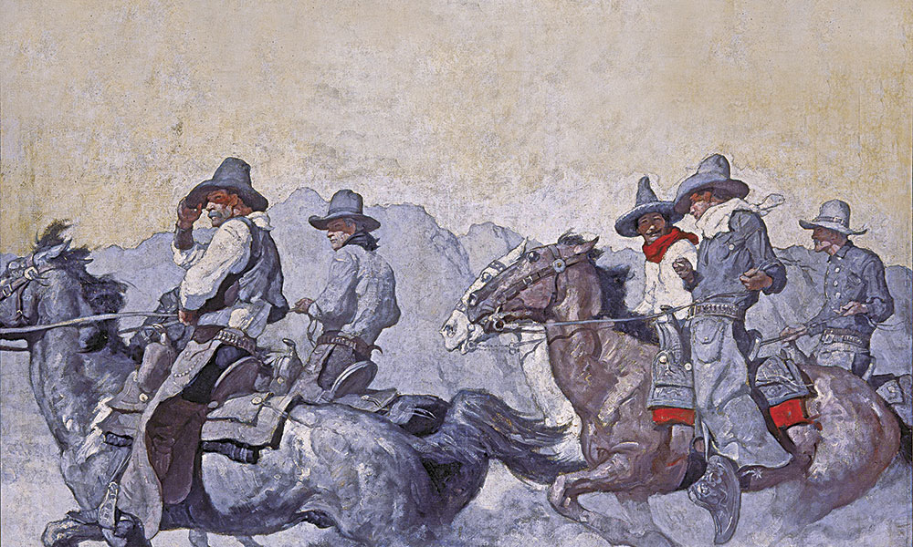 Vaqueros Buckaroos Cowboys Artwork Western Art True West