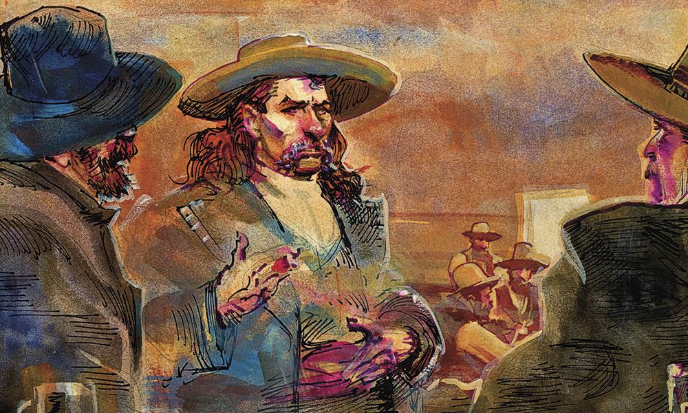 George Ward Hickok Wild Bill Western Gunfights True West