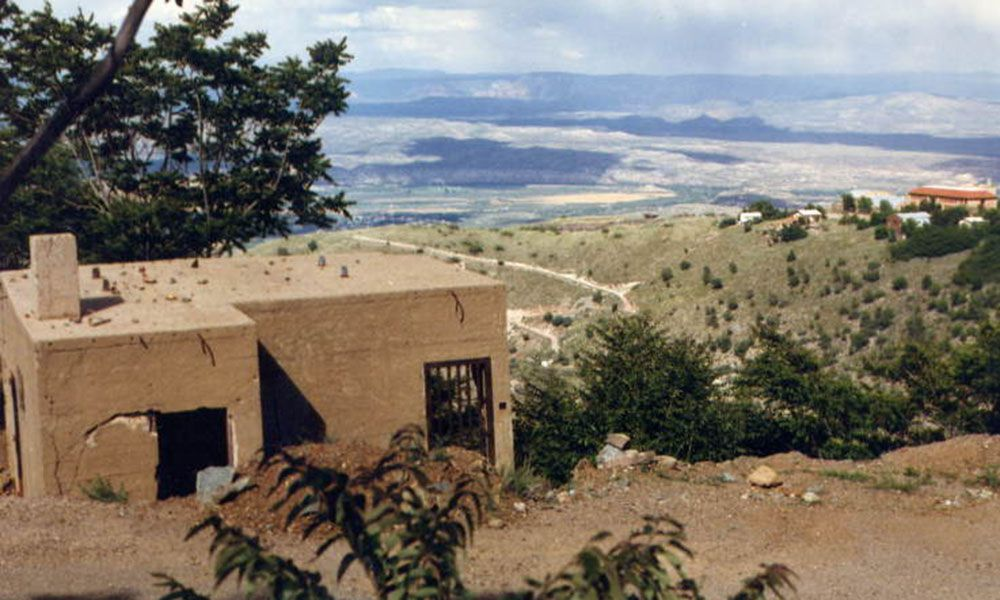 The sliding jail in Jerome, Arizona True West